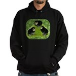 Baby Chicks in the Garden Hoodie (dark)