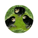 "Baby Chicks in the Garden 3.5"" Button (100 pa"