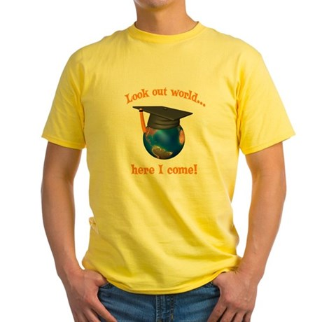 Look Out World Here I Come Yellow T-Shirt