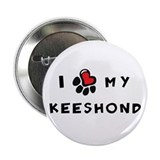 "I *heart* My Keeshond 2.25"" Button"