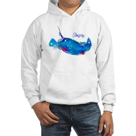 Stingray in Bold Colors Hooded Sweatshirt