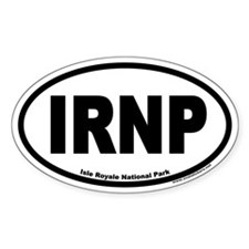 Isle Royale National Park IRNP Euro Oval Bumper Stickers