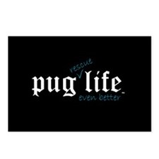 Pug Rescue Life Postcards (Package of 8)