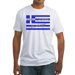 Greek School Dropout Fitted T-Shirt