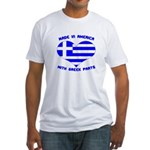 Made in America With Greek Parts Fitted T-Shirt
