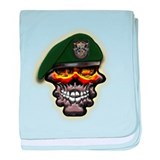 US Army Special Forces Skull baby blanket