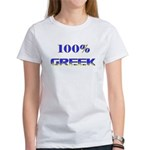 100 Percent Greek Women's T-Shirt