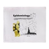 Epidemiology Inspirational Quote Throw Blanket