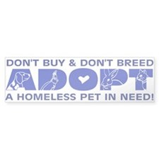 Blue Adopt Bumper Bumper Sticker