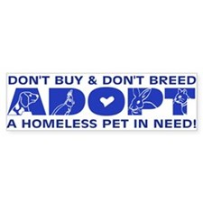 Blue Adopt Bumper Bumper Sticker