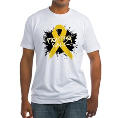 Fighting Childhood Cancer Fitted T-Shirt