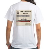 USS Vincennces CG-49 Shirt