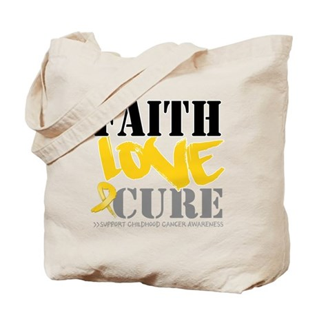 Faith Childhood Cancer Tote Bag