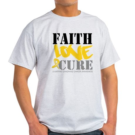Faith Childhood Cancer Light T-Shirt