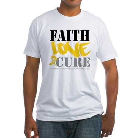 Faith Childhood Cancer Fitted T-Shirt