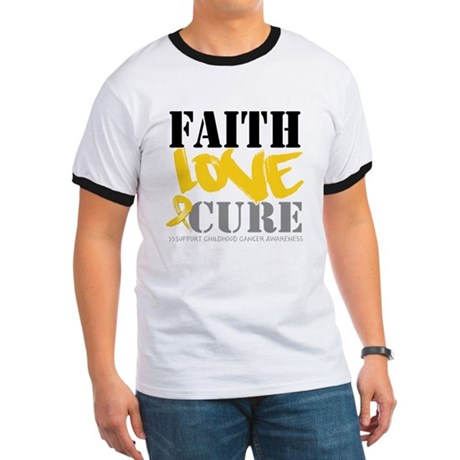 Faith Childhood Cancer Ringer T