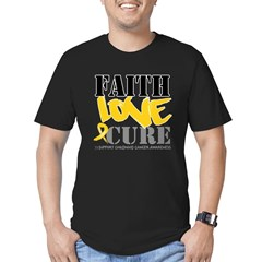 Faith Childhood Cancer Men's Fitted T-Shirt (dark)
