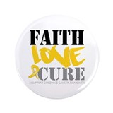 "Faith Childhood Cancer 3.5"" Button (100 pack)"