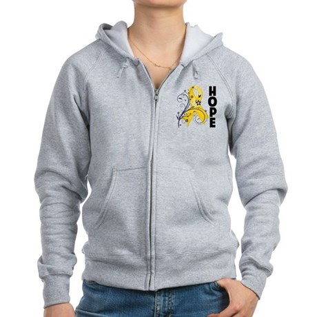 Hope Childhood Cancer Women's Zip Hoodie