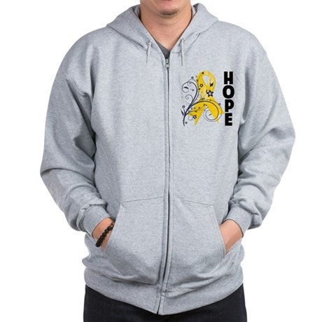 Hope Childhood Cancer Zip Hoodie