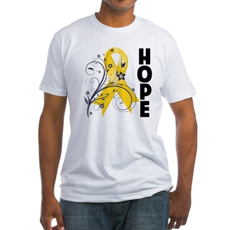 Hope Childhood Cancer Fitted T-Shirt