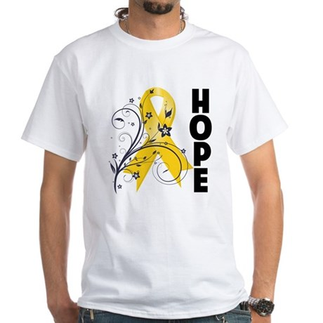 Hope Childhood Cancer White T-Shirt