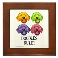 Doodles Rule Framed Tile