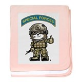 Cute Green beret baby blanket