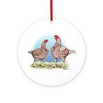 Cornish Chickens WLRed Ornament (Round)