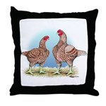 Cornish Chickens WLRed Throw Pillow