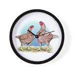 Cornish Chickens WLRed Wall Clock