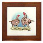 Cornish Chickens WLRed Framed Tile