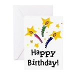 Birthday Candles Greeting Cards (Pk of 10)