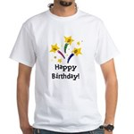 Birthday Candles White T-Shirt