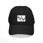 California Grey Chickens Black Cap