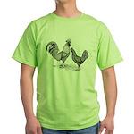 California Grey Chickens Green T-Shirt
