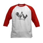 California Grey Chickens Kids Baseball Jersey