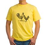 California Grey Chickens Yellow T-Shirt