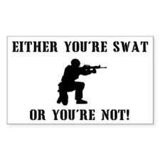 SWAT or not Rectangle Decal