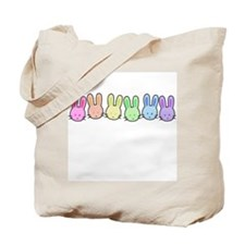 Pastel Rainbow Bunnies Tote Bag