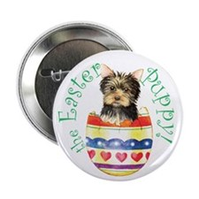 Easter Yorkie Button