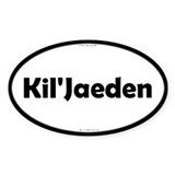 Kil'Jaeden Black Server Oval Stickers