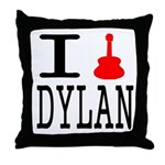 Listen To Dylan Throw Pillow