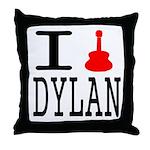 Listen To Dylan Throw Pillow