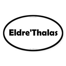 Eldre'Thalas Black Server Oval Decal