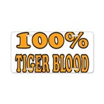 Tiger Blood Aluminum License Plate