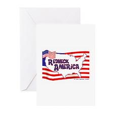 Redneck America Greeting Cards (Pk of 10)