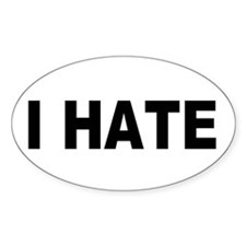 The Official Joe Morris I Hate Oval Decal
