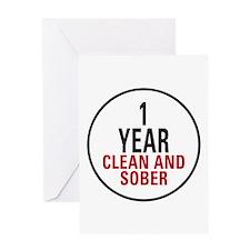1 Year Clean & Sober Greeting Card