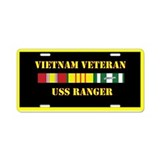USS Ranger Aluminum License Plate